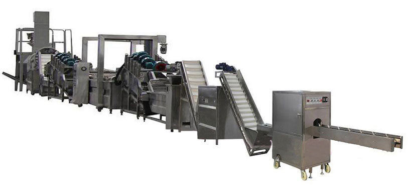 Automatic crispy onion rings frying line
