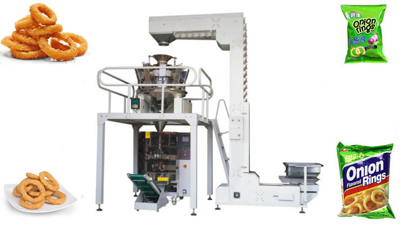 Automatic onion rings packing machine