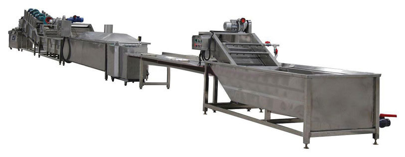 clean vegetable processing line
