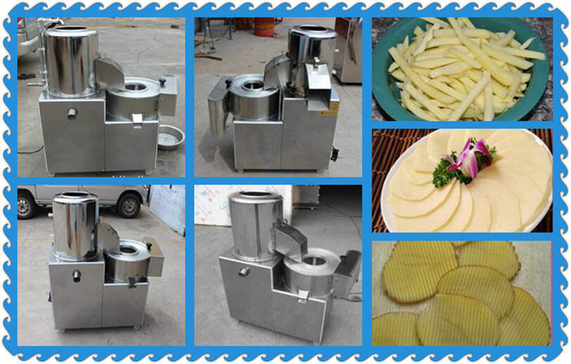 potato peeler cutter machine