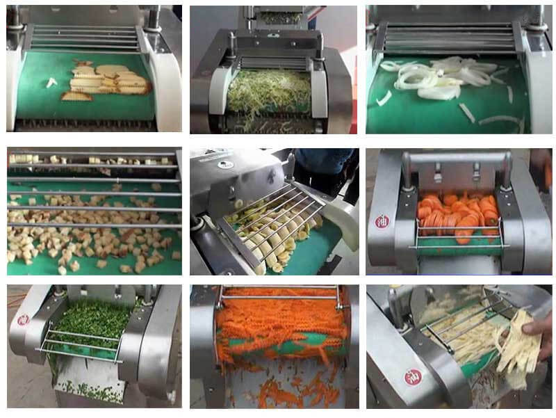 Multifunctional Vegetable Cutting Machine Applications
