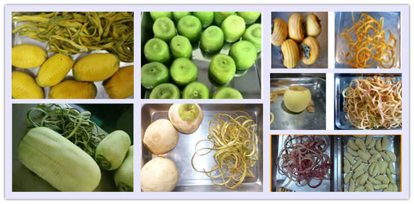 Peeled fruits by commercial fruit peeling machine