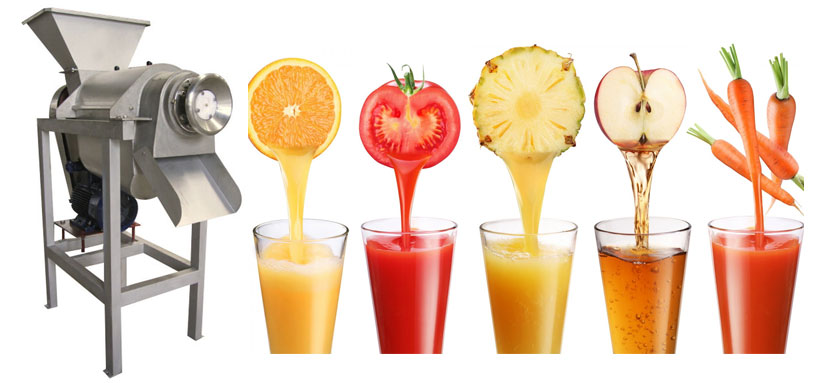 industrial screw type fruit juice extractor machine for fruit vegetable juice making