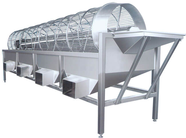 best rate drum type fruit vegetable grader machine