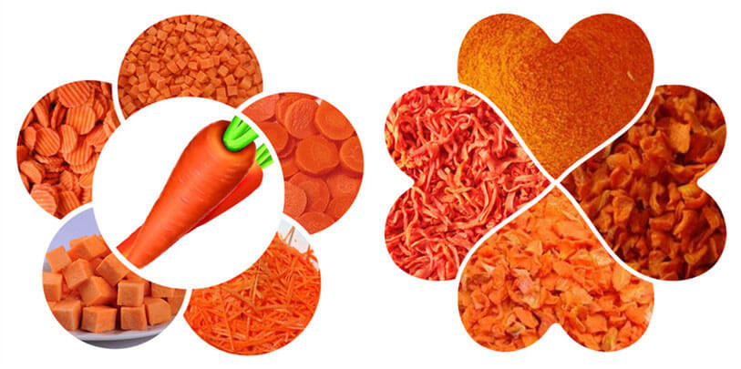 dehydrated carrot products
