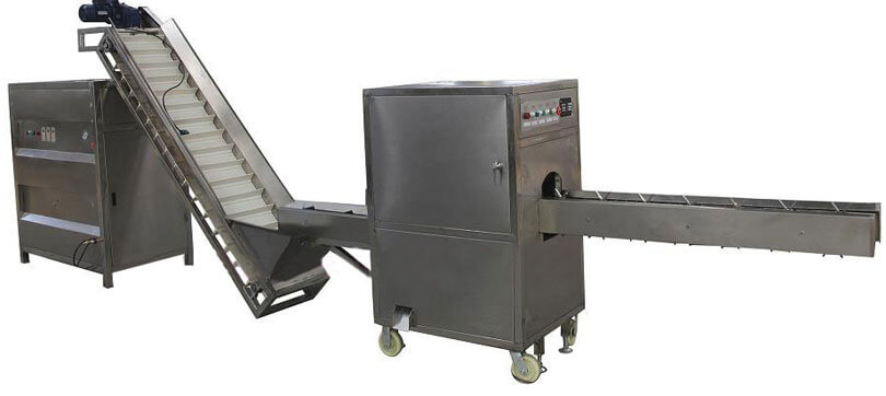 onion root cutting and peeling machine
