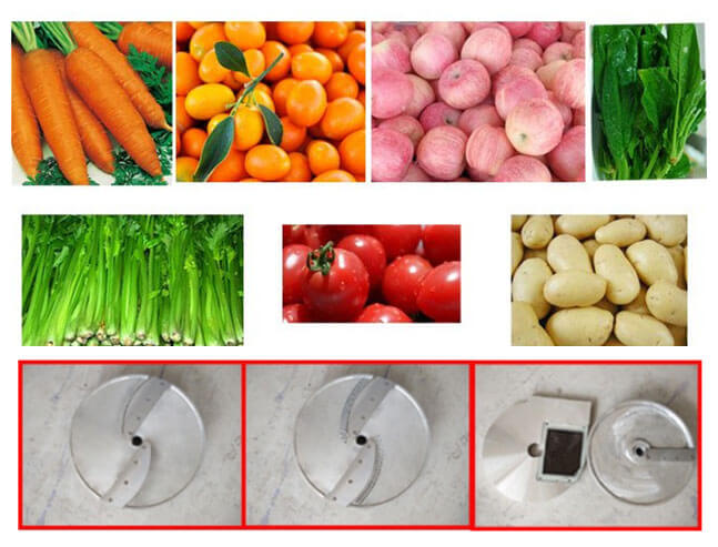 rotary vegetable cutter machine application for vegetable fruit commercial