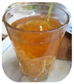 shredded ginger tea