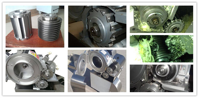 spare parts and detailed structure of commercial vegetable dicer machine