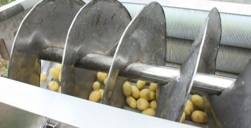 spiral blades for automatic feeding materials