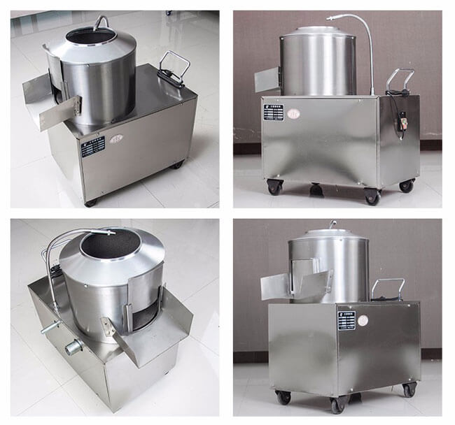 stainless steel potato peeling machine