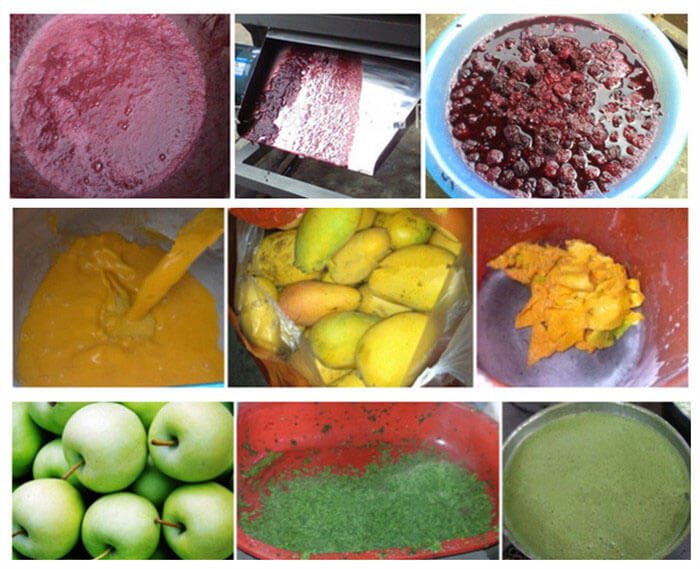 juice extracted by fruit crushing juicer machine