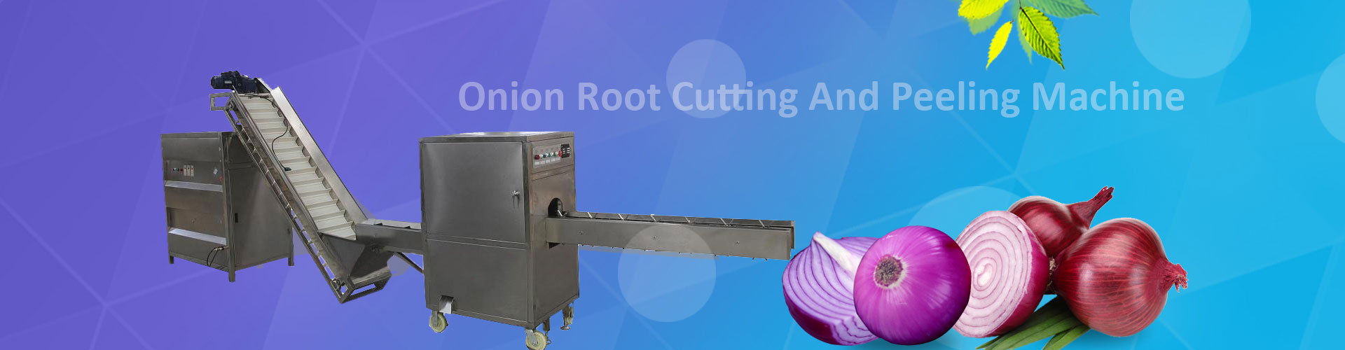 onion peeling processing line