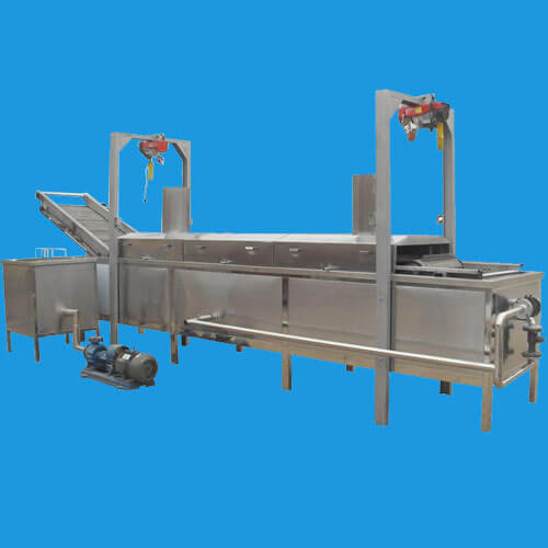automatic garlic deep fryer machine